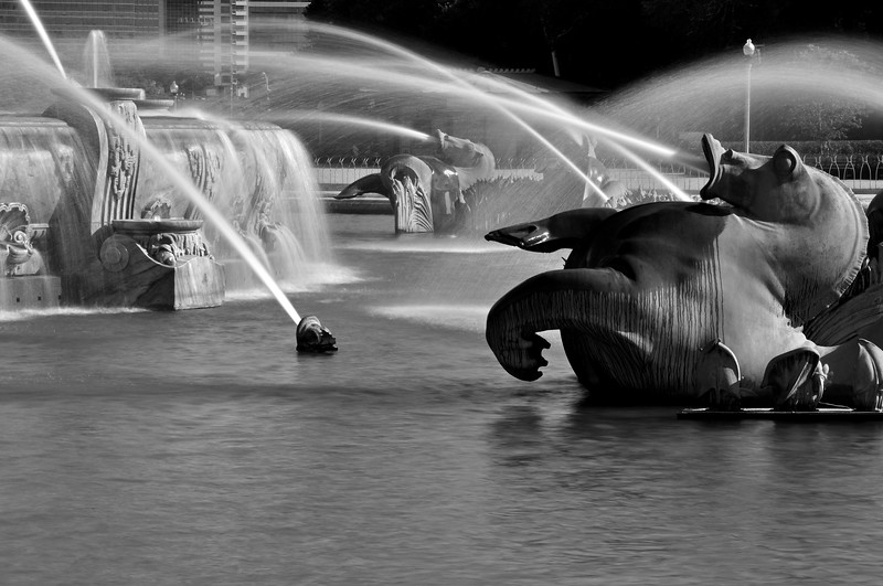 Buckingham Fountain In Black And White (VII)
