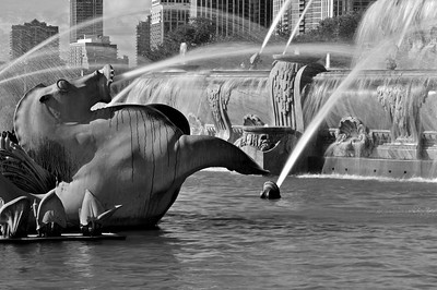 Buckingham Fountain In Black And White (VI)