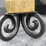Scroll foot details.  These square bar scrolls can make a great detail, with the juxtaposition of square and round shapes.