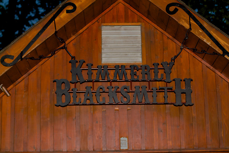 "Blacksmith Sign the letters are cut from 1/2in steel and attached at the back.  This is the sign that hangs over the ""Smithy"""
