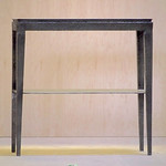 Solid Metal table made by Kimmerly Blacksmith.