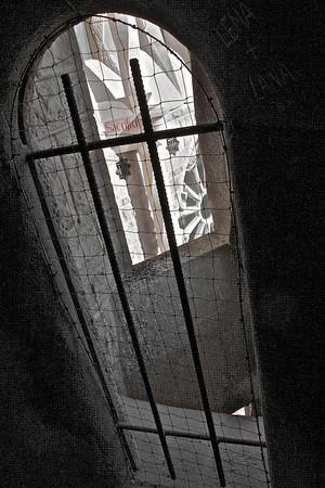 View from tower staircase - La Sagrada Familia