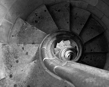 Spiral staircase from one of the towers of La Sagrada Familia