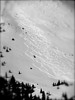 Powder tracks off of The Proffessor, Loveland Pass (with an avalanche in the upper right corner)