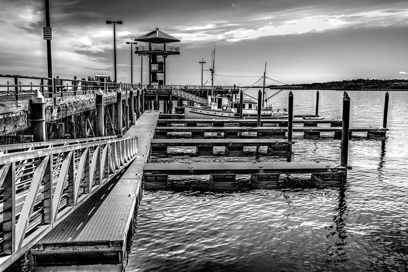 It must have been an artist who designed this dock in Port Angeles, WA
