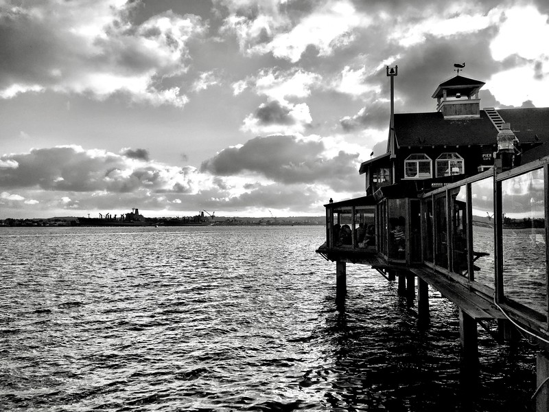 Seaport Village (b/w)