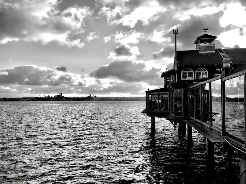 Seaport Village (b/w)