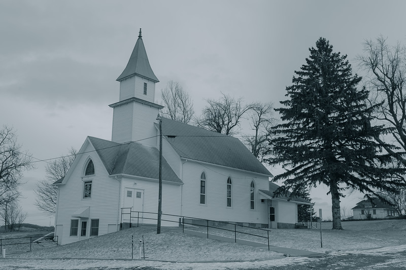 Country Church, Iowa's Hidden Treasures, Hamlin IA (February 2013)