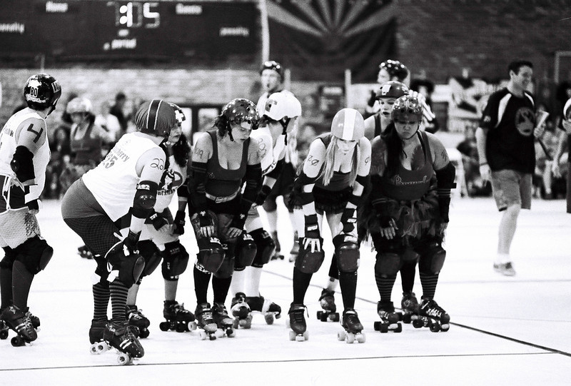 2011-1008 006 Roller derby on BW film