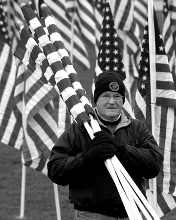 Healing Field of Honor - Naperville, Illinois - 11/07/2012 - Field Setup Event