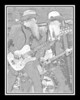 Ribfest - 2012 - Naperville, Illinois - ZZ Top - Pencil Sketch - Print as 8x10