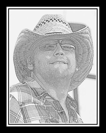 Ribfest - 2012 - Naperville, Illinois - Navistar Stage - Billy Croft & The 5 Alarm - Pencil Sketch - Print as 8x10