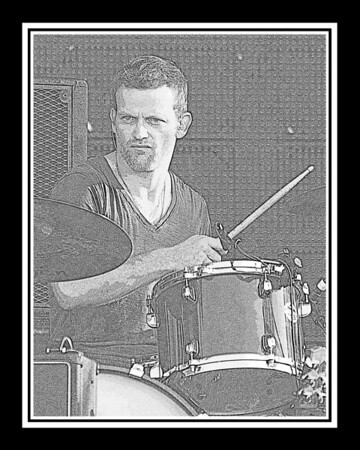 Ribfest - 2012 - Naperville, Illinois - Navistar Stage - Connor Christian & Southern Gothic - Pencil Sketch - Print as 8x10