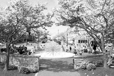 Dandelion Fountain - Naperville Riverwalk - Jackson Avenue and Webster Street - Naperville, Illinois - Photo Taken: May 3, 2009