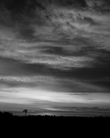 Kansas Windmill at Sunrise