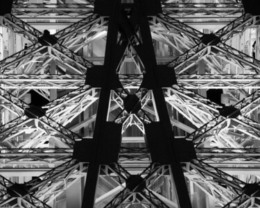 Structure Members of the Eiffel Tower in Las Vegas, Nevada
