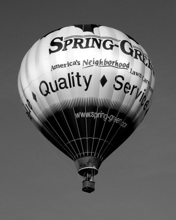 Hot Air Balloon - Spring Green