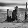 Totem Poles Up Close, Monument Valley, AZ
