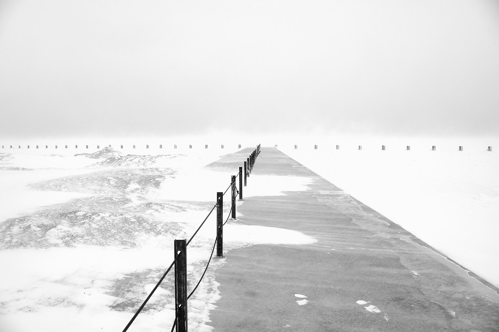 Pier in the Snow Storm, Chicago, IL 4582