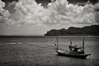 A fishing boat near Chumpon, Thailand.