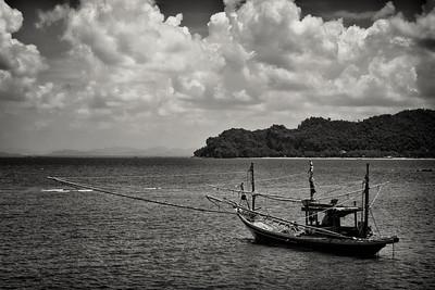 A fishing boat near Chumpon, Thailand.