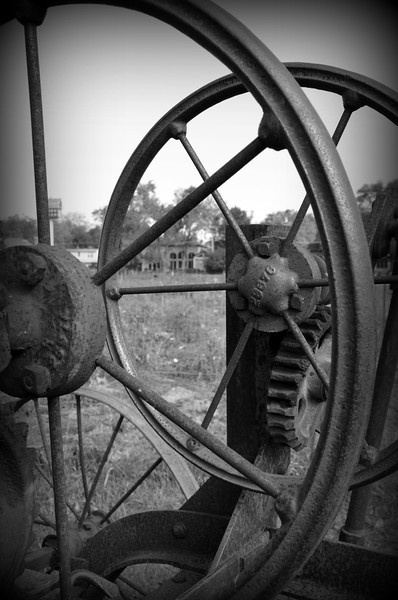 Rusty old farm equipment put out to pasture <br /> <br /> Daily Photos  -  October 11, 2011<br /> <br /> Took the family to a nearby farm this weekend for some pumpkin picking. They had some old farm equipment lined up out in the pasture. Tons of great photo opportunities - could have spent the entire day there!