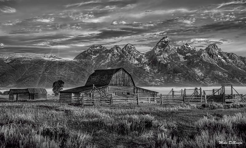 Mormon Barn Sunrise 1143 w54