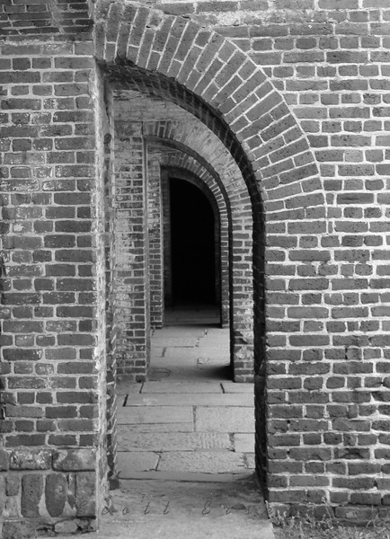 Arched passageways at Fort Sumter, South Carolina