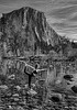 Yoga in Yosemite 5424 w64  B&W