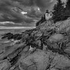 Bass Harbor Storm Warning 0329 w57 B&W