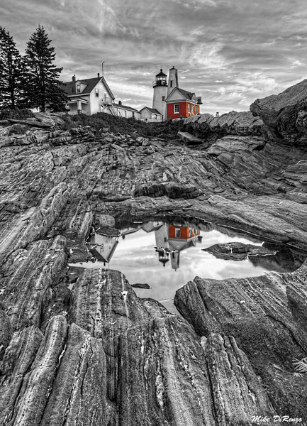 Pemaquid Point Lighthouse Reflection 2815 w39