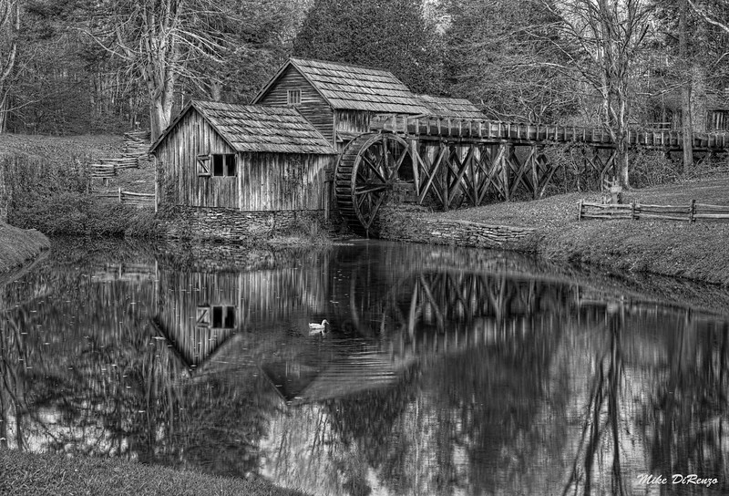 Reflections of Mabry Mill 6176 w48