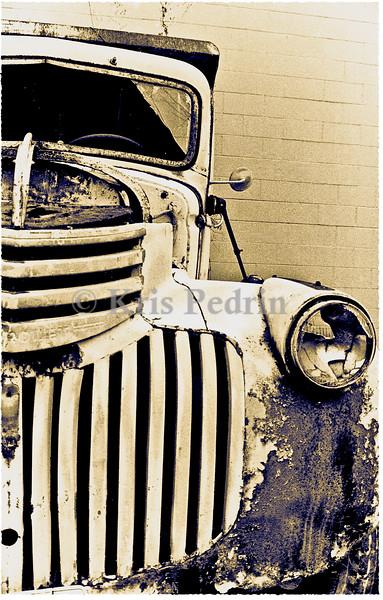 Old Truck, Duo-tone, Kent Valley, Washington