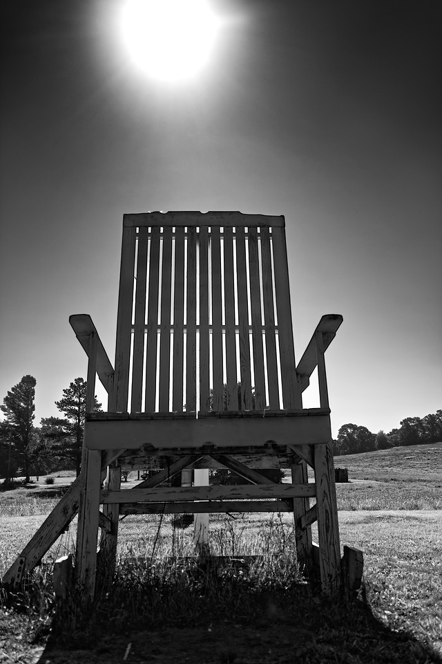 The Big Chair, just outside of Clermont, GA on Hwy 52