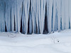 Icicles in the Flume gorge.  Shot with the OM 65-200mm @f8 and my tripod almost buried in snow.