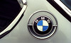 Older BMWs always have the best details; especially the famous rondell.  <br /> This is a negative scan from years ago when I was at the BMWCCA Octoberfest in 2000.
