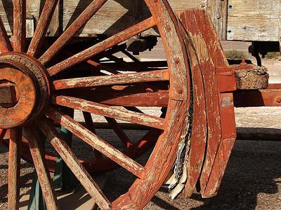 Hot Brakes Fail 20 Mule Team wagon detail Harmony Borax Mine Death Valley California 2007