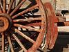 Hot Brakes Fail<br /> 20 Mule Team wagon detail<br /> Harmony Borax Mine<br /> Death Valley California 2007