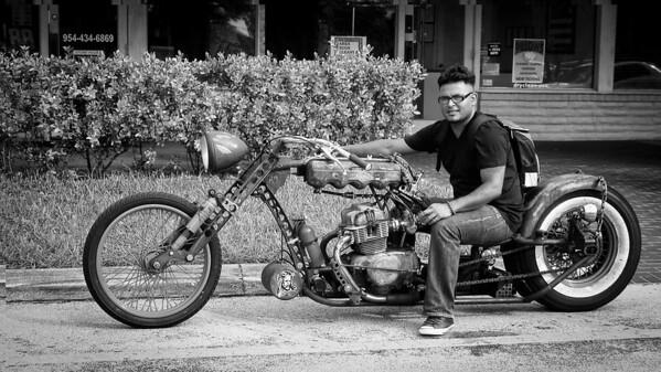 Motor Bikes bw