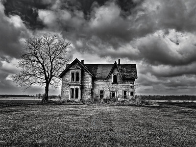 Forgotten Homestead along the talbot train in south western ontario. The photo was begging to be converted to black and white.