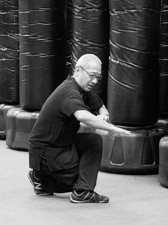 Steve Chin Eagle Claw Training bw 5-7-16
