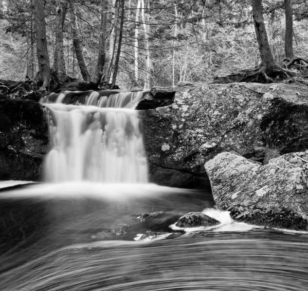Waterfall & eddy study at Pulpit Rock Conservation area