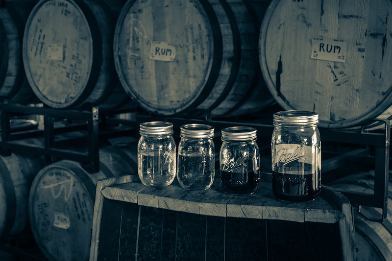 an interior shot in the production room at Ryan and Wood Distillery in Gloucester, MA.  Shot w/the OM 24mm f2.8 at f4.