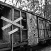 some creative locals turned this abandoned passenger train into a halloween attraction.  I'd love to see it at night all lit up; they even had a dry ice machine!