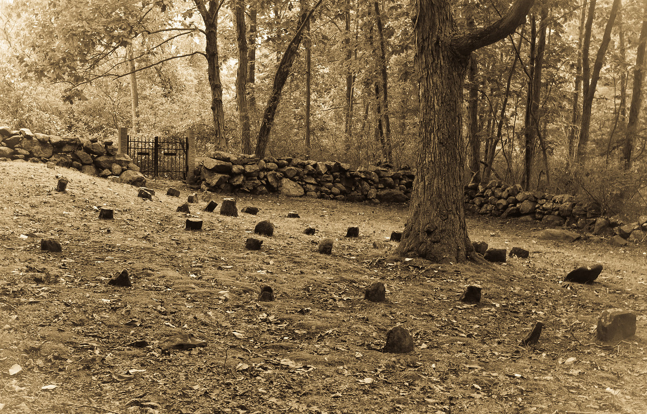 Ordione Point Cemetery.  Went back on a cloudy day and sepia just seems to do this one justice.