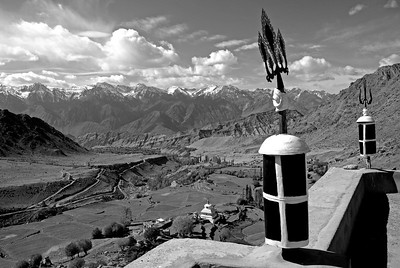 View across the Indus from the rooftop of Likir Monastery