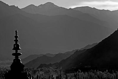 Ladakh Landscapes Black and White