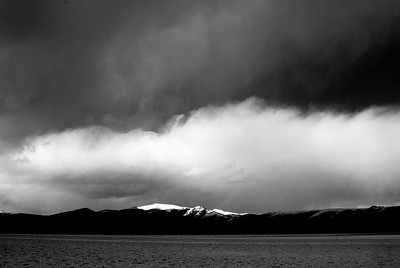 Late afternoon storm in the Tso Kar basin - Ladakh