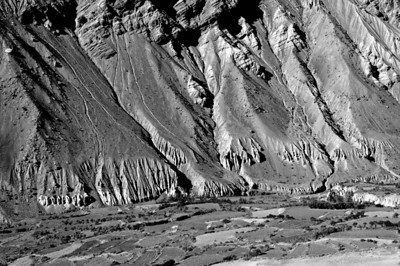 The Spiti valley near the district headquarters, Kaza