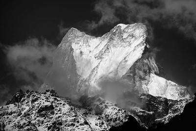 Machhapuchhare from the forests near Bamboo on the Annapurna base camp trail